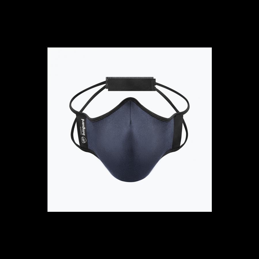หน้ากากผ้าใช้สำหรับออกกำลังกายและทำกิจกรรมทั่วไป Livinguard Fitness Mask (Swiss Technology)-กรมท่า Steel