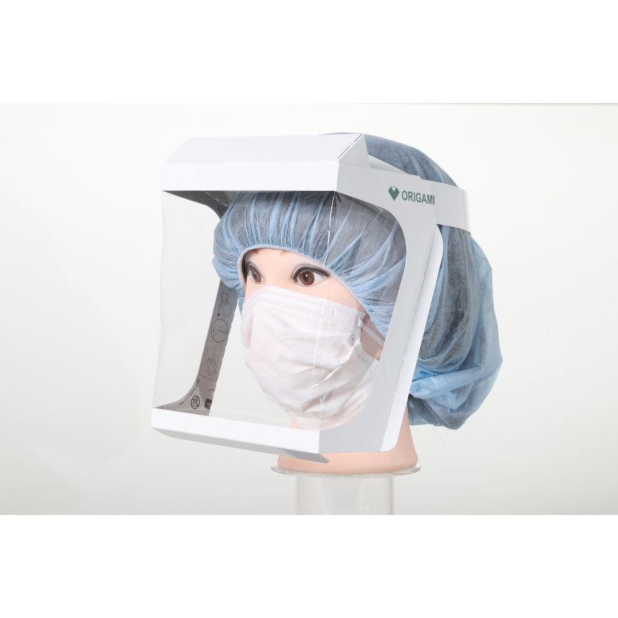 เฟซชิลด์ที่ใช้วิธีการพับกระดาษแบบศิลปะโอริงามิของญี่ปุ่น Face Shield inspired by Origami