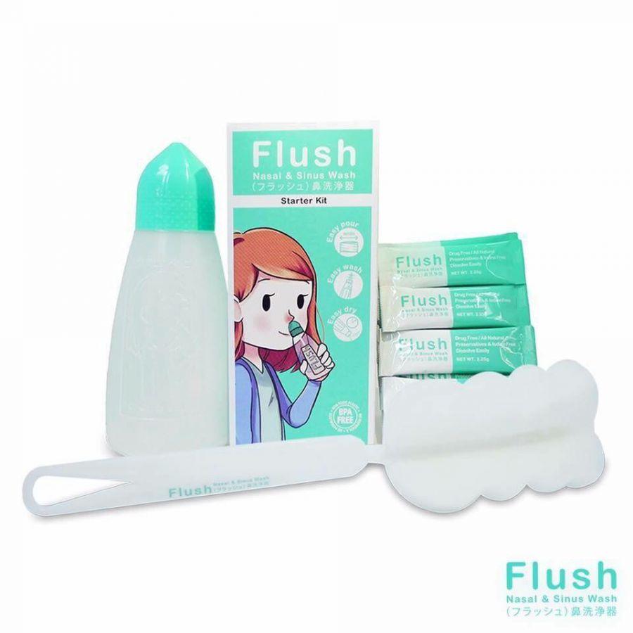 Starter Kit Flush Bundle Pack ชุดอุปกรณ์ล้างจมูก ฟลัส