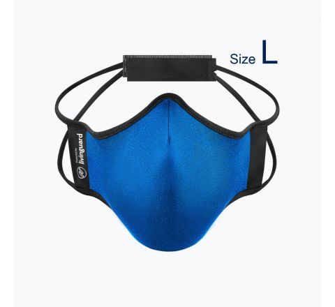 หน้ากากผ้าใช้สำหรับออกกำลังกายและทำกิจกรรมทั่วไป Livinguard Fitness Mask (Swiss Technology) สีฟ้า Electric Blue - ไซส์ L