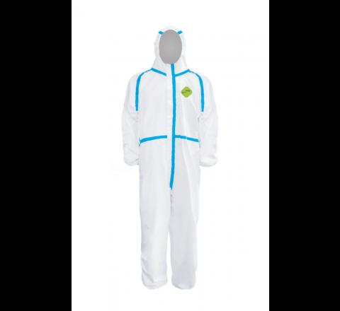 ชุดป้องการสารเคมี และฝุ่นละออง ชุดหมี PPE (Size S) มาตรฐานการผลิต  GB19082-2009 ยี่ห้อ Hazmat Protective Suite