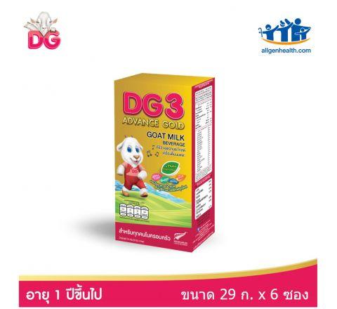 เครื่องดื่มนมแพะ ดีจี3 ชนิดซอง ขนาด 29 กรัม บรรจุ 6 ซอง-DG3 Goat Milk Beverage Sachet pack6